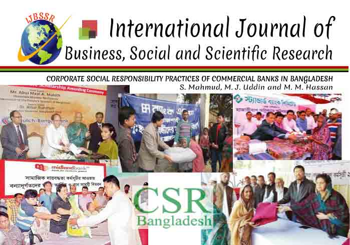 CORPORATE SOCIAL RESPONSIBILITY PRACTICES OF COMMERCIAL BANKS IN BANGLADESH