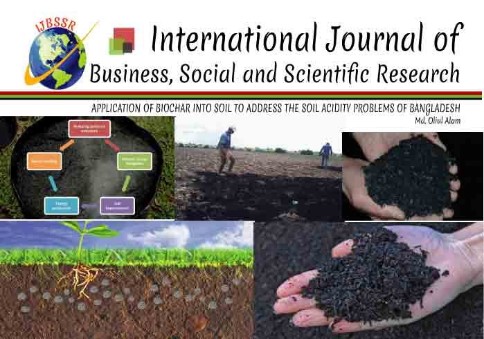 APPLICATION OF BIOCHAR INTO SOIL TO ADDRESS THE SOIL ACIDITY PROBLEMS OF BANGLADESH