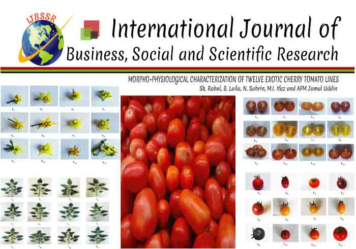 MORPHO-PHYSIOLOGICAL CHARACTERIZATION OF TWELVE EXOTIC CHERRY TOMATO LINES