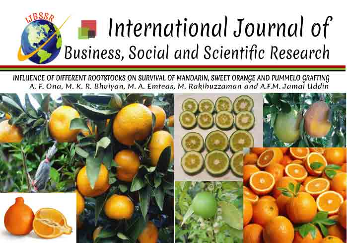 INFLUENCE OF DIFFERENT ROOTSTOCKS ON SURVIVAL OF MANDARIN, SWEET ORANGE AND PUMMELO GRAFTING