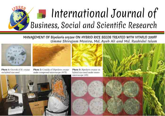 MANAGEMENT OF Bipolaris oryzae ON HYBRID RICE SEEDS TREATED WITH VITAFLO 200FF