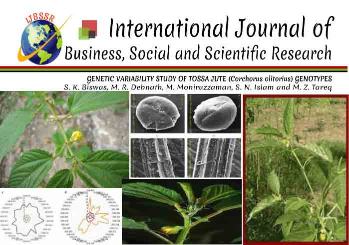 GENETIC VARIABILITY STUDY OF TOSSA JUTE (Corchorus olitorius) GENOTYPES