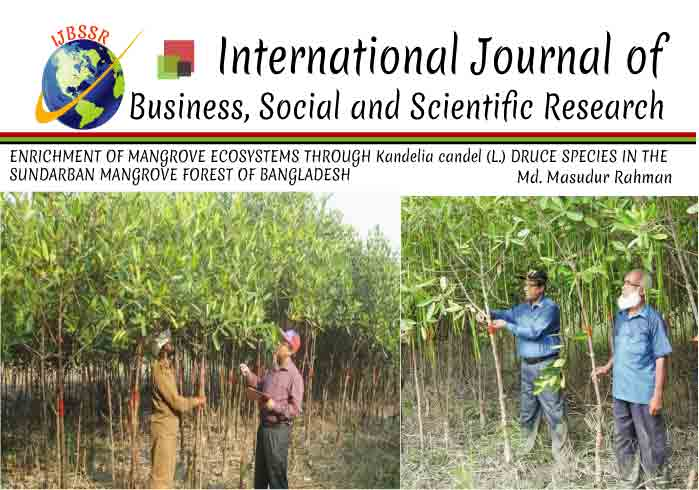 ENRICHMENT OF MANGROVE ECOSYSTEMS THROUGH Kandelia candel (L.) DRUCE SPECIES IN THE SUNDARBAN MANGROVE FOREST OF BANGLADESH