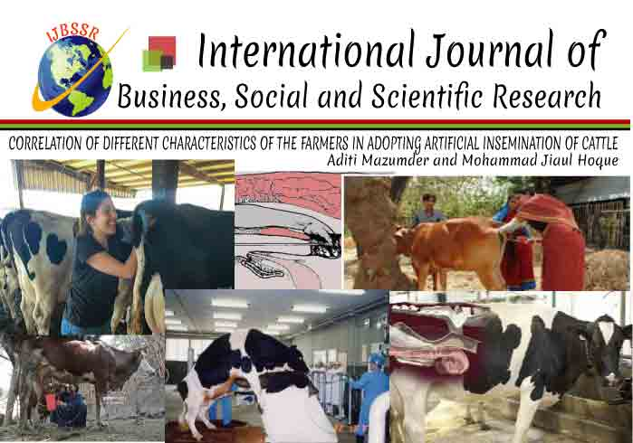 CORRELATION OF DIFFERENT CHARACTERISTICS OF THE FARMERS IN ADOPTING ARTIFICIAL INSEMINATION OF CATTLE