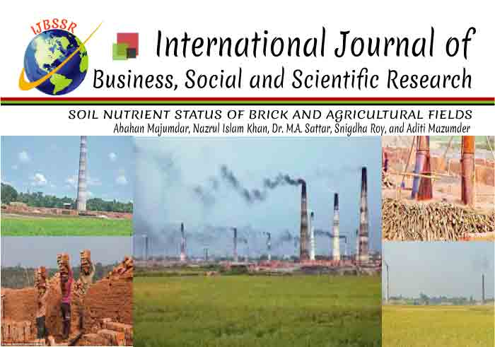 SOIL NUTRIENT STATUS OF BRICK AND AGRICULTURAL FIELDS