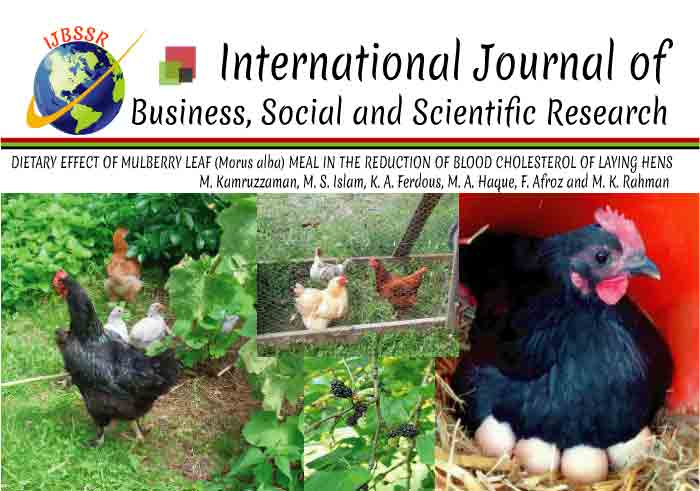 DIETARY EFFECT OF MULBERRY LEAF (Morus alba) MEAL IN THE REDUCTION OF BLOOD CHOLESTEROL OF LAYING HENS