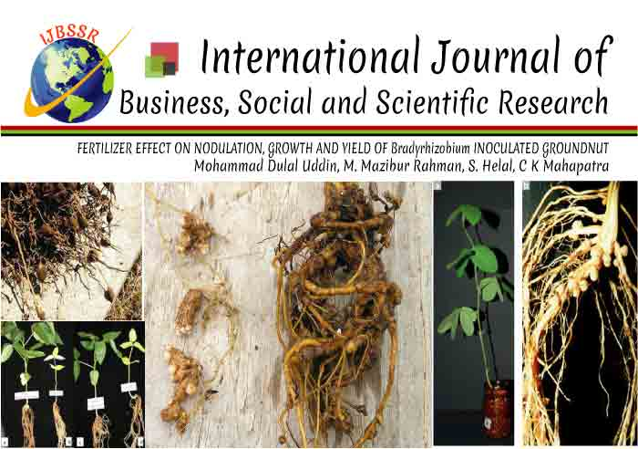 FERTILIZER EFFECT ON NODULATION, GROWTH AND YIELD OF Bradyrhizobium INOCULATED GROUNDNUT