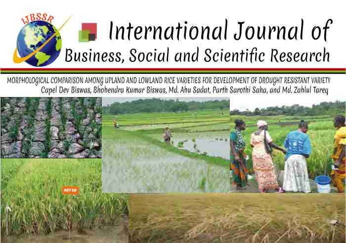 MORPHOLOGICAL COMPARISON AMONG UPLAND AND LOWLAND RICE VARIETIES FOR DEVELOPMENT OF DROUGHT RESISTANT VARIETY