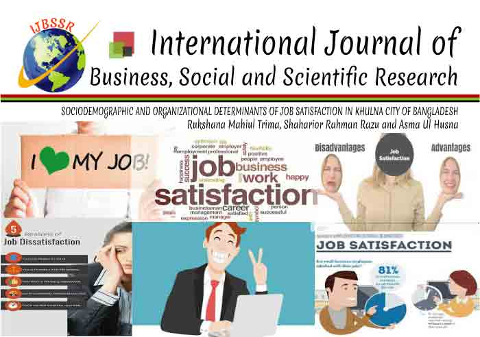 SOCIODEMOGRAPHIC AND ORGANIZATIONAL DETERMINANTS OF JOB SATISFACTION IN KHULNA CITY OF BANGLADESH