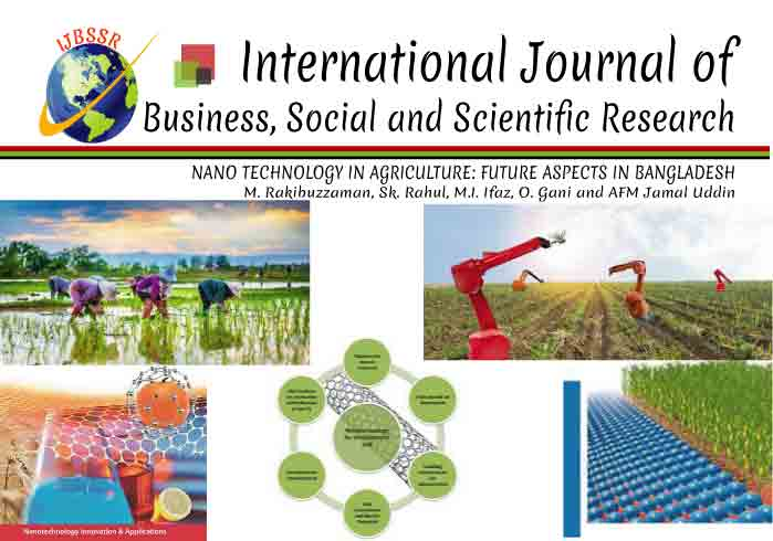 NANO TECHNOLOGY IN AGRICULTURE: FUTURE ASPECTS IN BANGLADESH