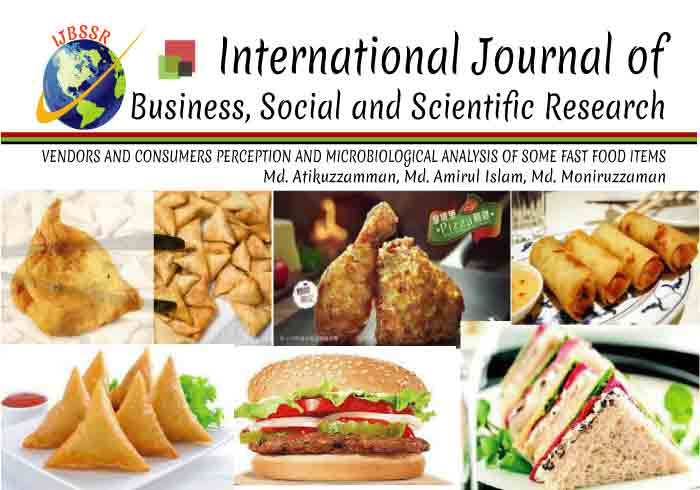 VENDORS AND CONSUMERS PERCEPTION AND MICROBIOLOGICAL ANALYSIS OF SOME FAST FOOD ITEMS