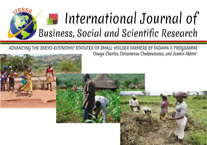 ADVANCING THE SOCIO-ECONOMIC STATUTES OF SMALL HOLDER FARMERS BY FADAMA II PROGRAMME