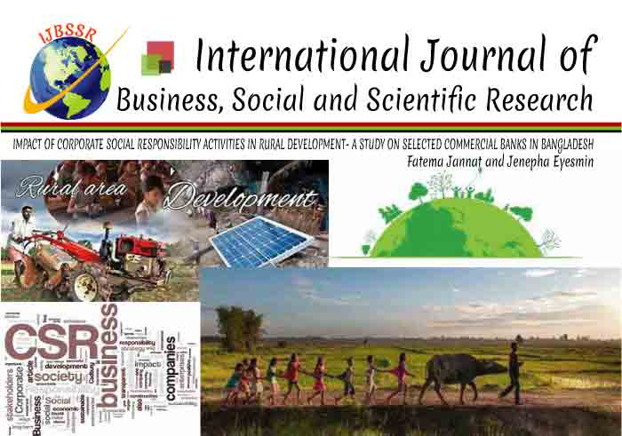 IMPACT OF CORPORATE SOCIAL RESPONSIBILITY ACTIVITIES IN RURAL DEVELOPMENT- A STUDY ON SELECTED COMMERCIAL BANKS IN BANGLADESH