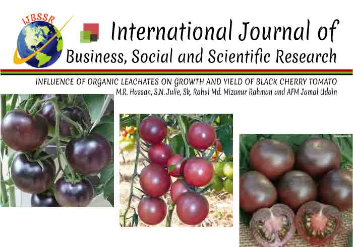 INFLUENCE OF ORGANIC LEACHATES ON GROWTH AND YIELD OF BLACK CHERRY TOMATO