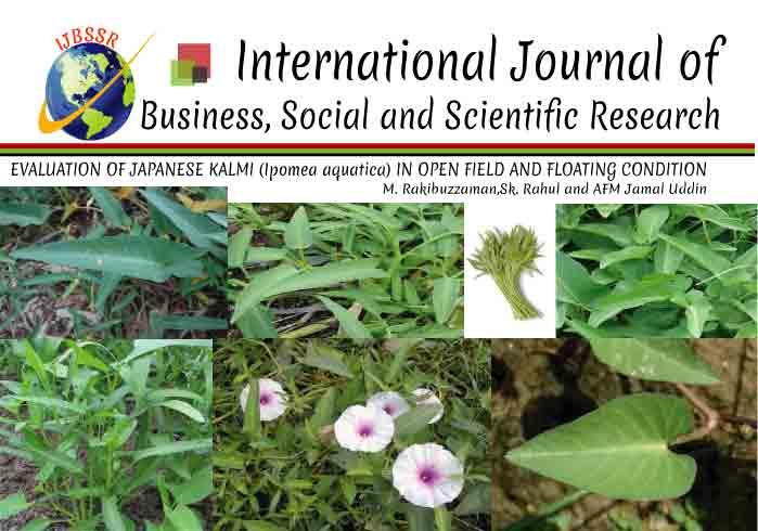 EVALUATION OF JAPANESE KALMI (Ipomea aqu atica) IN OPEN FIELD AND FLOATING CONDITION