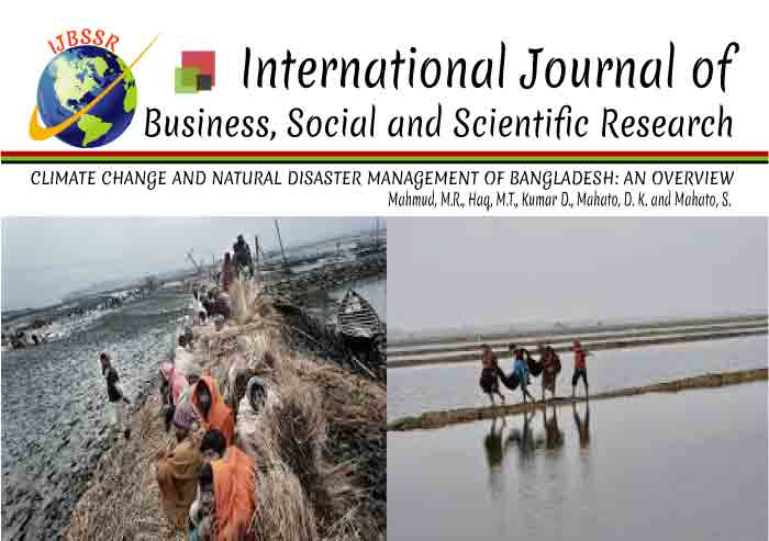 CLIMATE CHANGE AND NATURAL DISASTER MANAGEMENT OF BANGLADESH: AN OVERVIEW