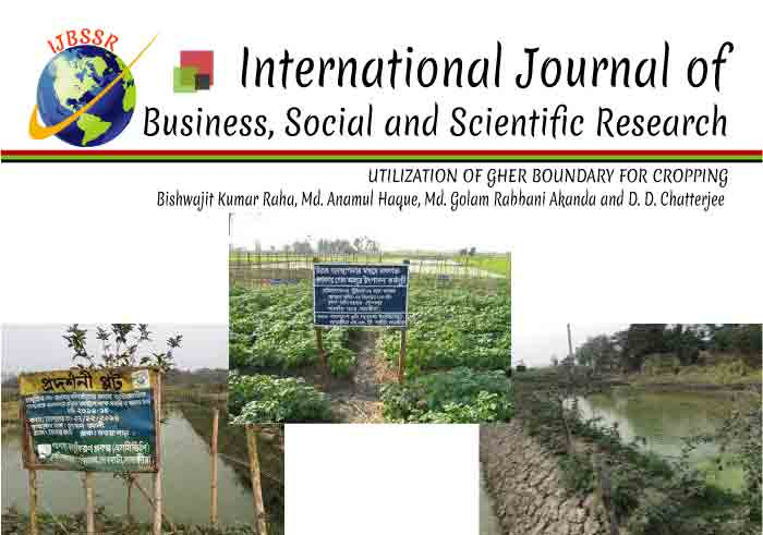 UTILIZATION OF GHER BOUNDARY FOR CROPPING