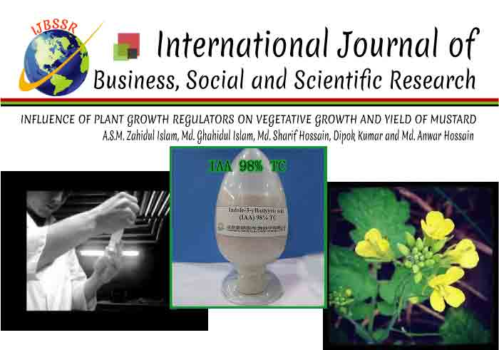 INFLUENCE OF PLANT GROWTH REGULATORS ON VEGETATIVE GROWTH AND YIELD OF MUSTARD