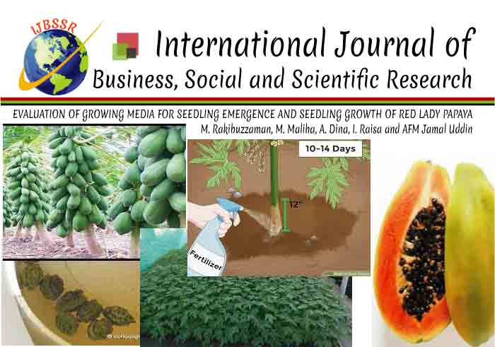 EVALUATION OF GROWING MEDIA FOR SEEDLING EMERGENCE AND SEEDLING GROWTH OF RED LADY PAPAYA