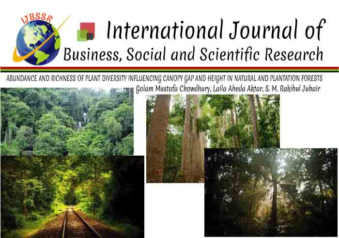 ABUNDANCE AND RICHNESS OF PLANT DIVERSITY INFLUENCING CANOPY GAP AND HEIGHT IN NATURAL AND PLANTATION FORESTS