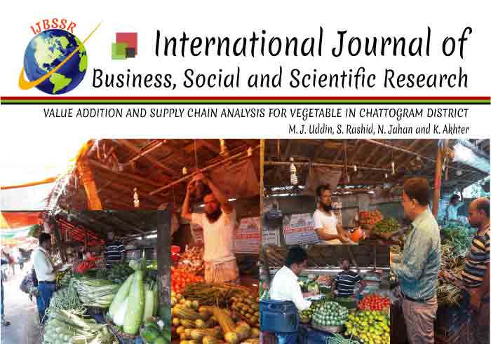 VALUE ADDITION AND SUPPLY CHAIN ANALYSIS FOR VEGETABLE IN CHATTOGRAM DISTRICT