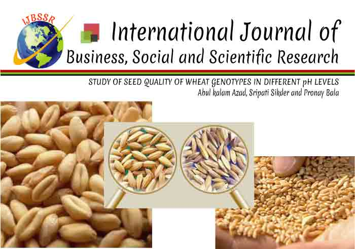 STUDY OF SEED QUALITY OF WHEAT GENOTYPES IN DIFFERENT pH LEVELS