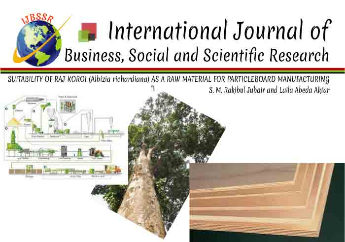 SUITABILITY OF RAJ KOROI (Albizia richardiana) AS A RAW MATERIAL FOR PARTICLEBOARD MANUFACTURING