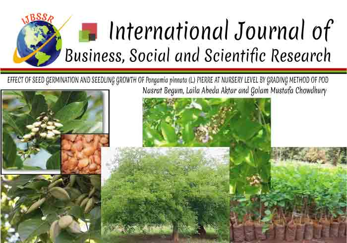 EFFECT OF SEED GERMINATION AND SEEDLING GROWTH OF Pongamia pinnata (L.) PIERRE AT NURSERY LEVEL BY GRADING METHOD OF POD