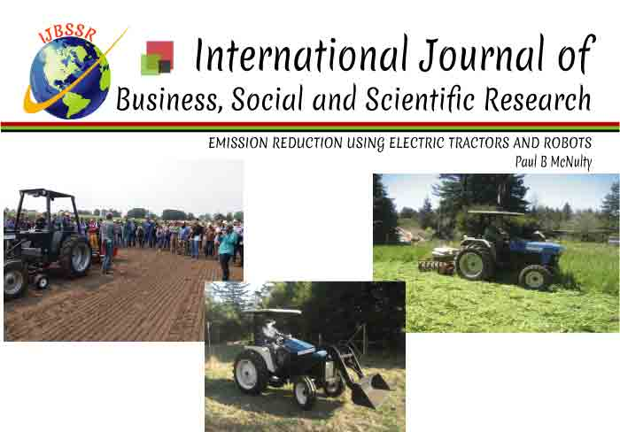 EMISSION REDUCTION USING ELECTRIC TRACTORS AND ROBOTS