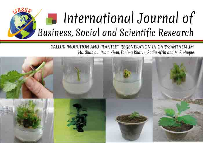 CALLUS INDUCTION AND PLANTLET REGENERATION IN CHRYSANTHEMUM