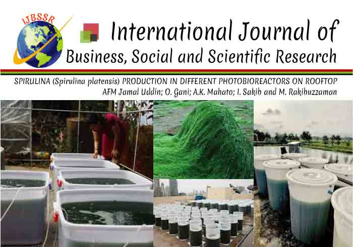 SPIRULINA (Spirulina platensis) PRODUCTION IN DIFFERENT PHOTOBIOREACTORS ON ROOFTOP
