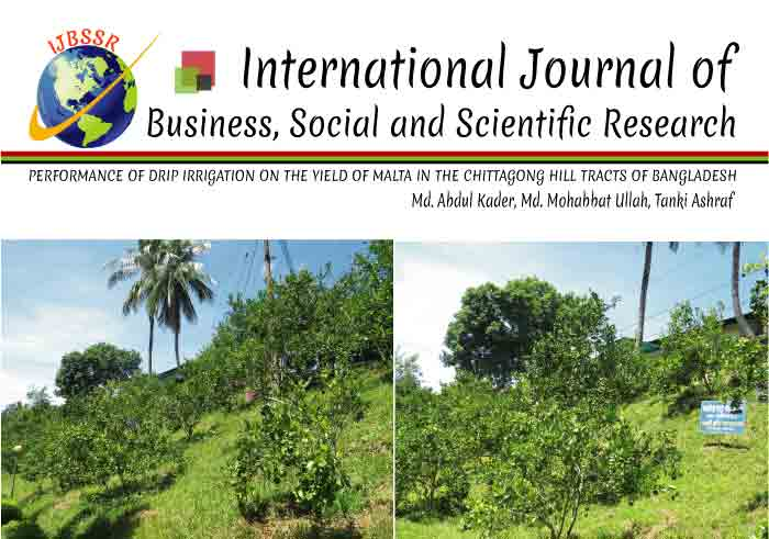 PERFORMANCE OF DRIP IRRIGATION ON THE YIELD OF MALTA IN THE CHITTAGONG HILL TRACTS OF BANGLADESH