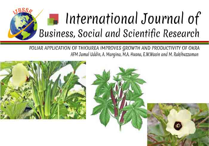 FOLIAR APPLICATION OF THIOUREA IMPROVES GROWTH AND PRODUCTIVITY OF OKRA