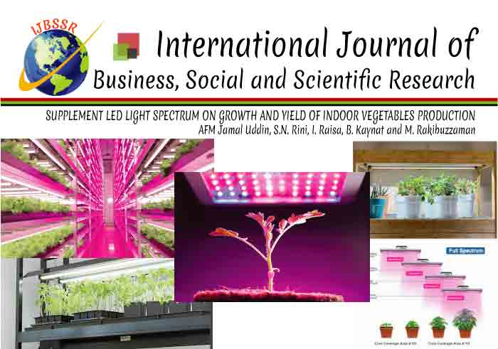 SUPPLEMENT LED LIGHT SPECTRUM ON GROWTH AND YIELD OF INDOOR VEGETABLES PRODUCTION