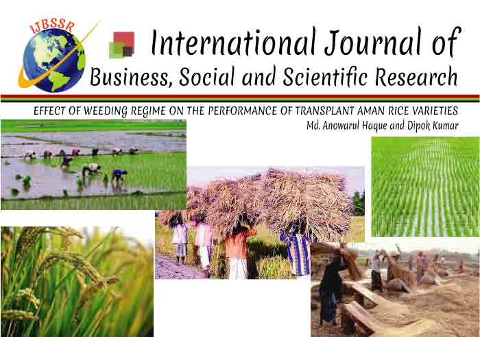 EFFECT OF WEEDING REGIME ON THE PERFORMANCE OF TRANSPLANT AMAN RICE VARIETIES