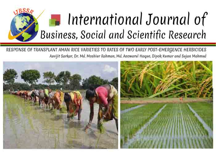 RESPONSE OF TRANSPLANT AMAN RICE VARIETIES TO RATES OF TWO EARLY POST-EMERGENCE HERBICIDES