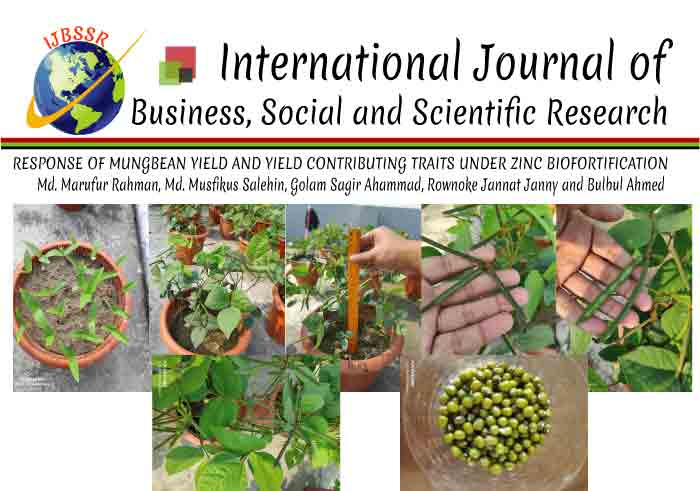 RESPONSE OF MUNGBEAN YIELD AND YIELD CONTRIBUTING TRAITS UNDER ZINC BIOFORTIFICATION