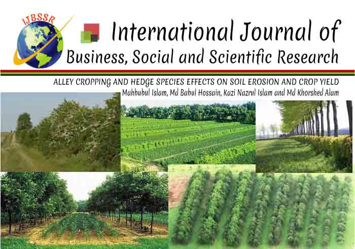 ALLEY CROPPING AND HEDGE SPECIES EFFECTS ON SOIL EROSION AND CROP YIELD AT HILLY AREAS OF BANGLADESH