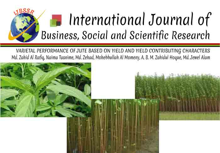VARIETAL PERFORMANCE OF JUTE BASED ON YIELD AND YIELD CONTRIBUTING CHARACTERS