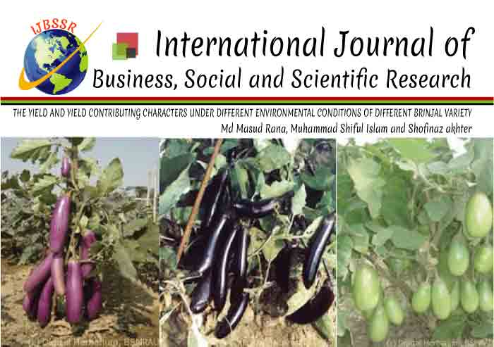 THE YIELD AND YIELD CONTRIBUTING CHARACTERS UNDER DIFFERENT ENVIRONMENTAL CONDITIONS OF DIFFERENT BRINJAL VARIETY