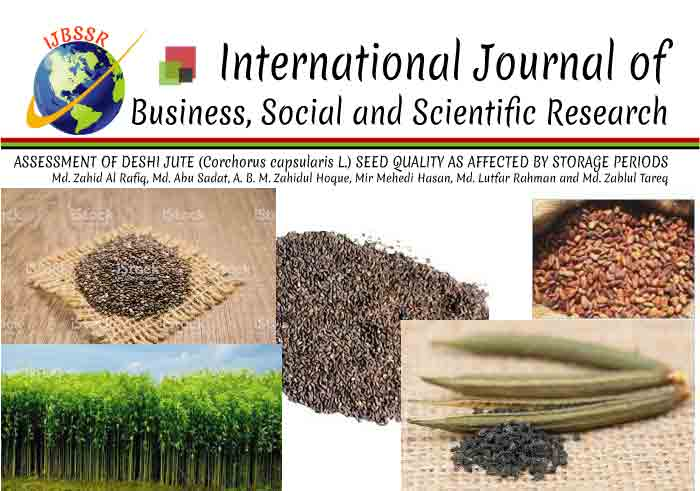 ASSESSMENT OF DESHI JUTE (Corchorus capsularis L.) SEED QUALITY AS AFFECTED BY STORAGE PERIODS