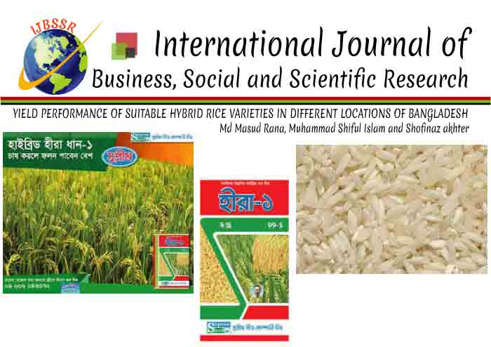 YIELD PERFORMANCE OF SUITABLE HYBRID RICE VARIETIES IN DIFFERENT LOCATIONS OF BANGLADESH