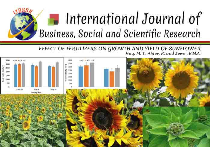 EFFECT OF FERTILIZERS ON GROWTH AND YIELD OF SUNFLOWER