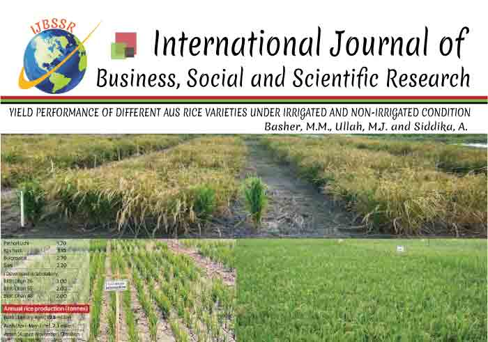 YIELD PERFORMANCE OF DIFFERENT AUS RICE VARIETIES UNDER IRRIGATED AND NON-IRRIGATED CONDITION