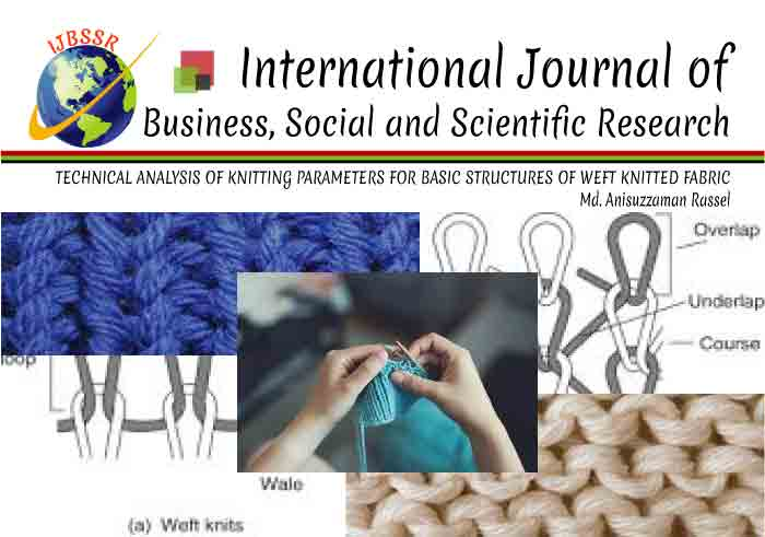 TECHNICAL ANALYSIS OF KNITTING PARAMETERS FOR BASIC STRUCTURES OF WEFT KNITTED FABRIC