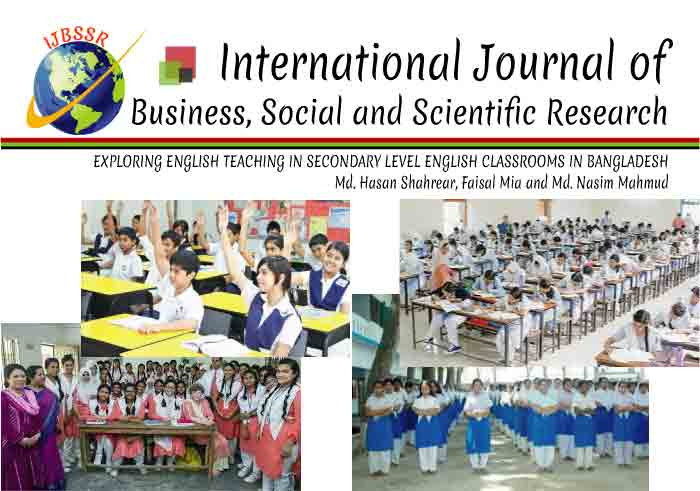EXPLORING ENGLISH TEACHING IN THE CLASSROOMS OF SECONDARY LEVEL IN BANGLADESH