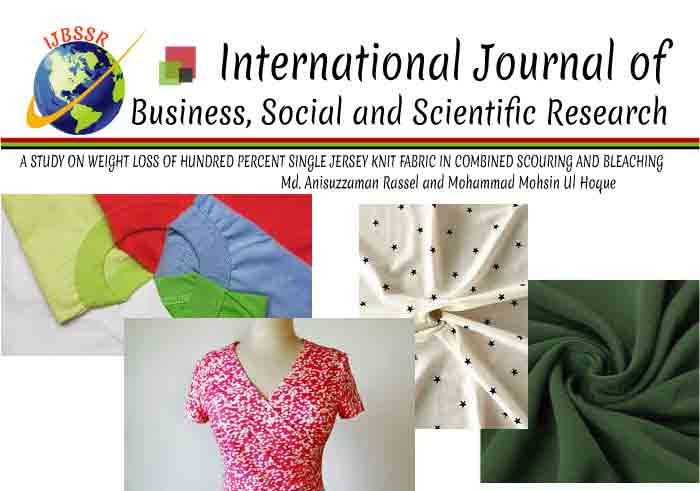 A STUDY ON WEIGHT LOSS OF HUNDRED PERCENT SINGLE JERSEY KNIT FABRIC IN COMBINED SCOURING AND BLEACHING
