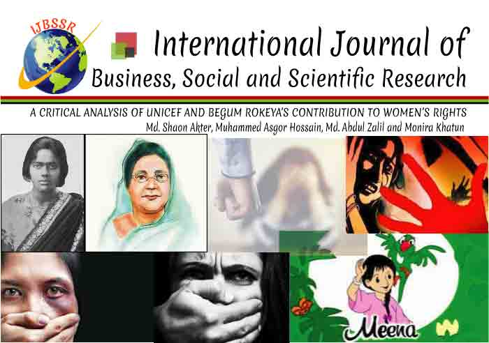 A CRITICAL ANALYSIS OF UNICEF AND BEGUM ROKEYA'S CONTRIBUTION TO WOMEN'S RIGHTS