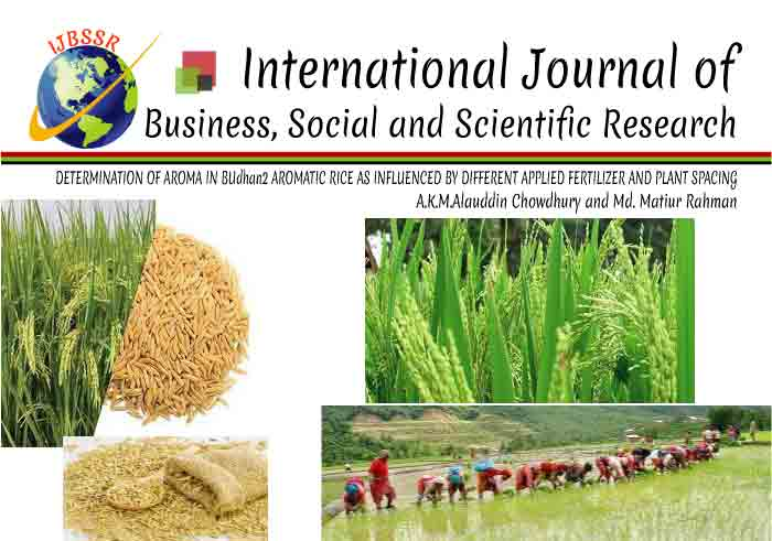 DETERMINATION OF AROMA IN BUdhan2 AROMATIC RICE AS INFLUENCED BY DIFFERENT APPLIED FERTILIZER AND PLANT SPACING