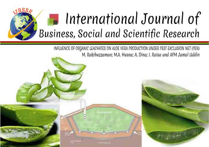 INFLUENCE OF ORGANIC LEACHATES ON ALOE VERA PRODUCTION UNDER PEST EXCLUSION NET (PEN)